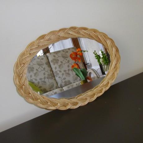 Miroir osier naturel
