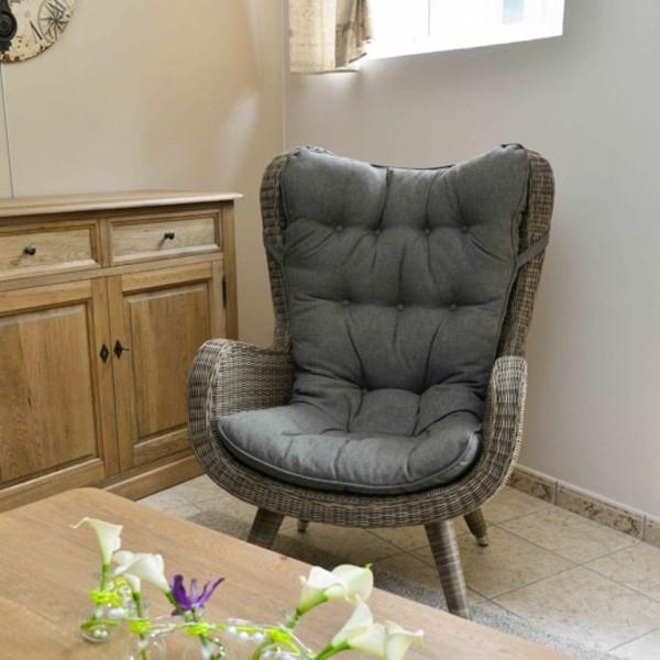 fauteuil wicker yvette - maison lehodey